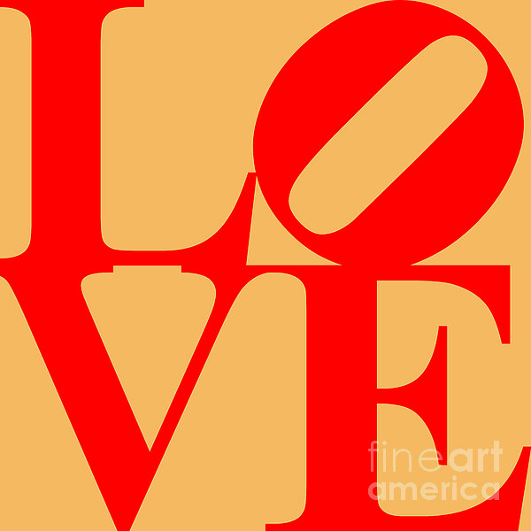 Love 20130707 Red Orange Print by Wingsdomain Art and Photography