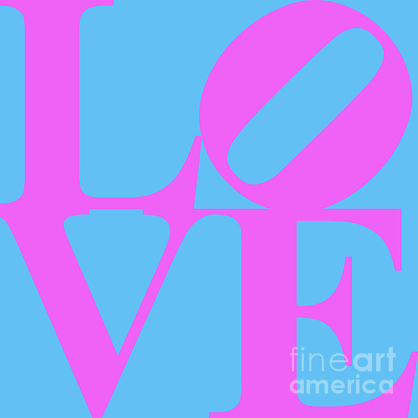 Love 20130707 Violet Blue Print by Wingsdomain Art and Photography