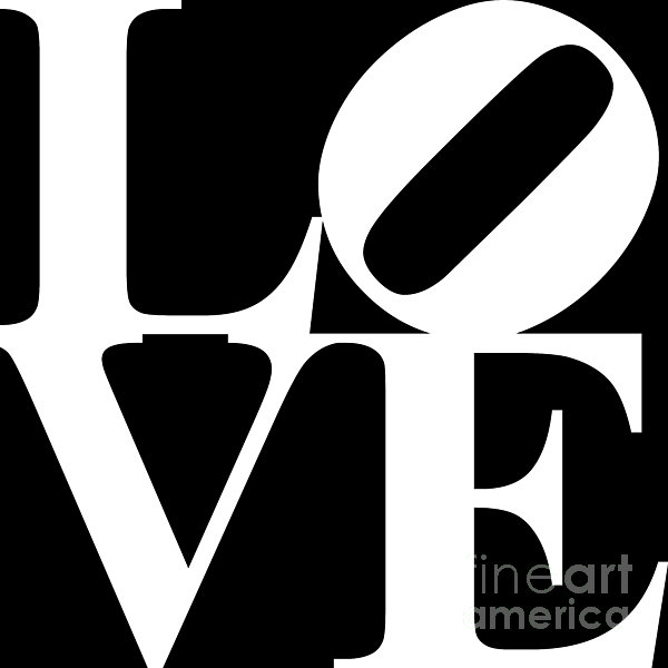 Love 20130707 White Black Print by Wingsdomain Art and Photography