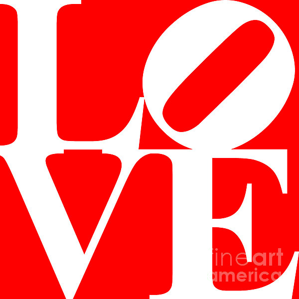 Love 20130707 White Red Print by Wingsdomain Art and Photography