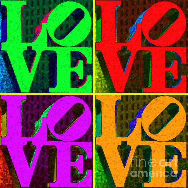 Love 4 Philadelphia - Painterly V4 Print by Wingsdomain Art and Photography