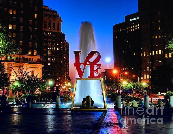 Love At Night Print by Nick Zelinsky