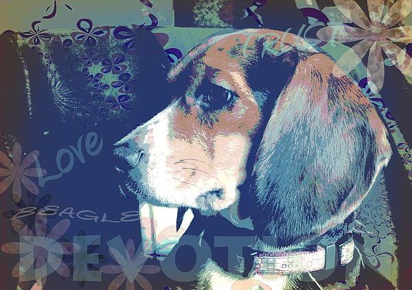 Love Devotion Trust Beagle Print by Heather Saulsbury