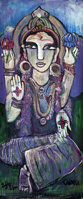 Love For Parvati Print by Laurie Maves Guglielmi