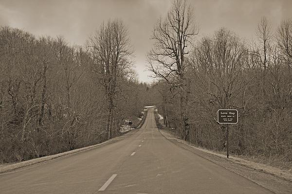 Love Gap Blue Ridge Parkway Print by Betsy A  Cutler