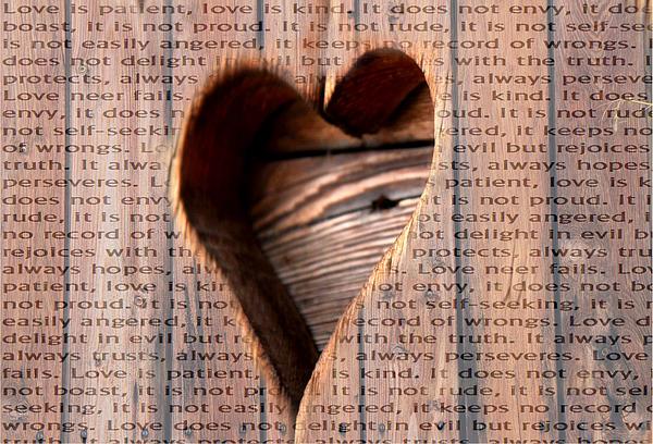 Love Is Print by Jean Gebhard