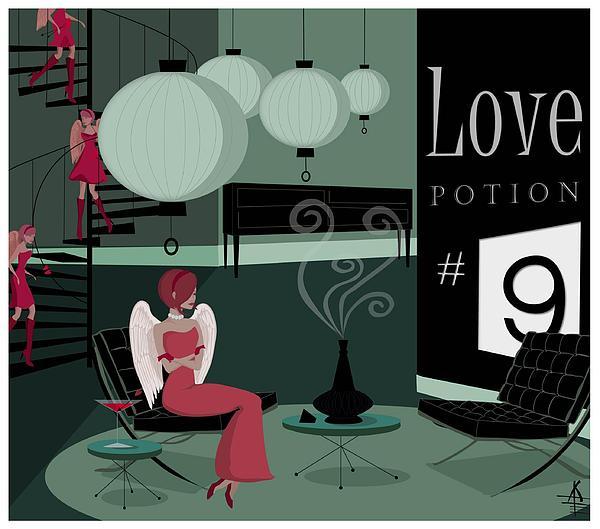 Love Potion No9 Print by Kate Paulos