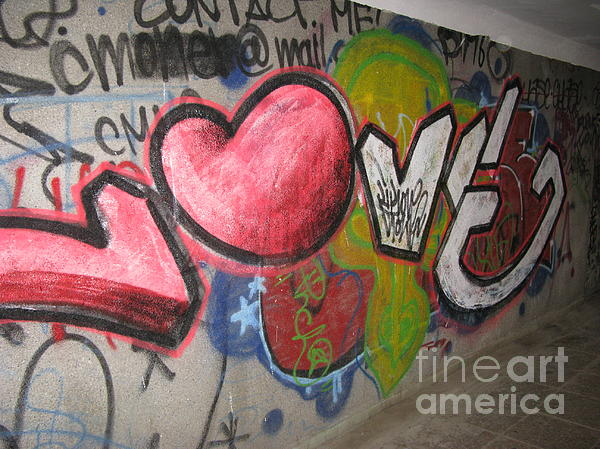 Love. Street Graffiti Print by Ausra Paulauskaite