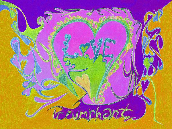 Love Triumphant V3 Print by Kenneth James