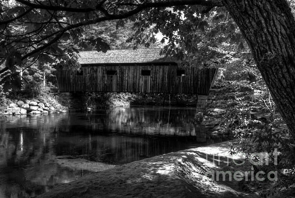 Mel Steinhauer - Lovejoy Covered Bridge 2bw