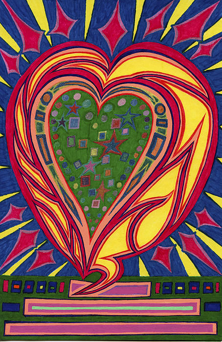 Love's Brilliance Illuminated Print by Kenneth James