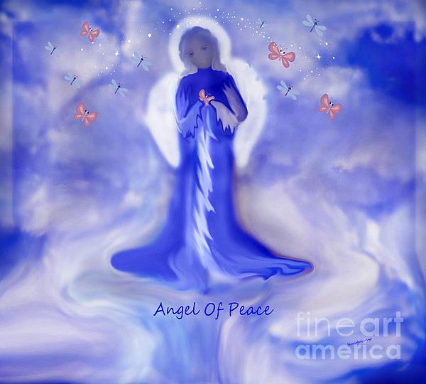 Loving Angel Of Peace Print by Sherri  Of Palm Springs