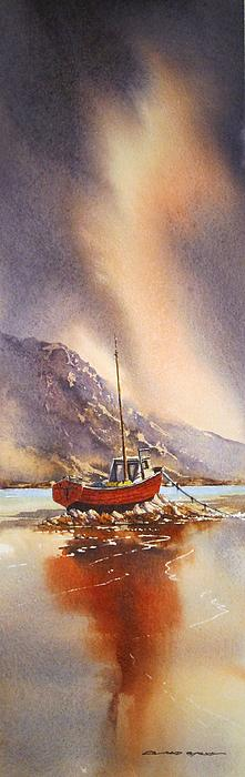 Low Tide Near Banrty Revisited Print by Roland Byrne