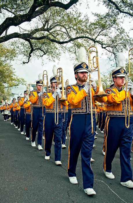 Lsu Marching Band 3 Print by Steve Harrington