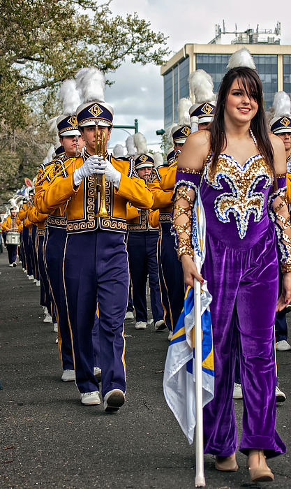 Lsu Marching Band 5 Print by Steve Harrington