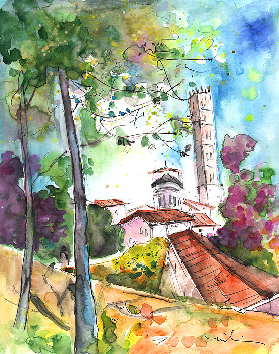 Lucca In Italy 01 Print by Miki De Goodaboom