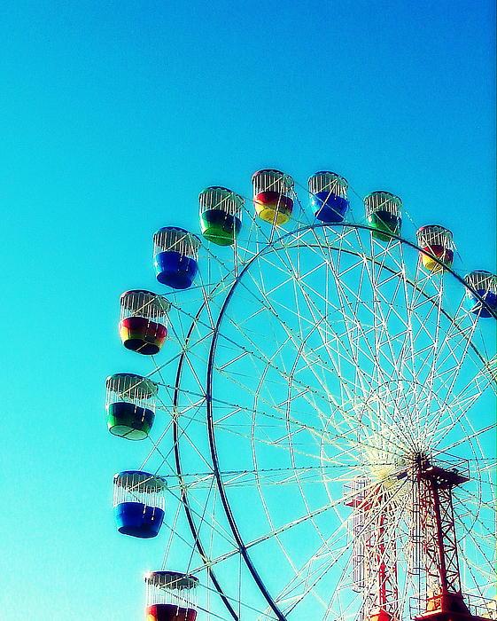 Luna Park Ferris Wheel Print by Ramona Johnston