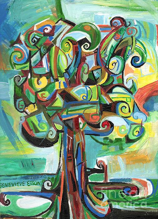 Lyrical Tree Print by Genevieve Esson