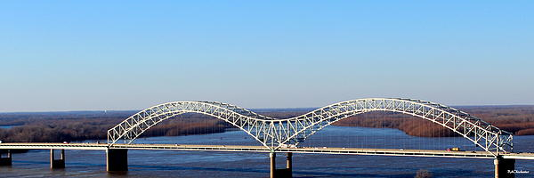 M Bridge Memphis Tennessee Print by Barbara Chichester