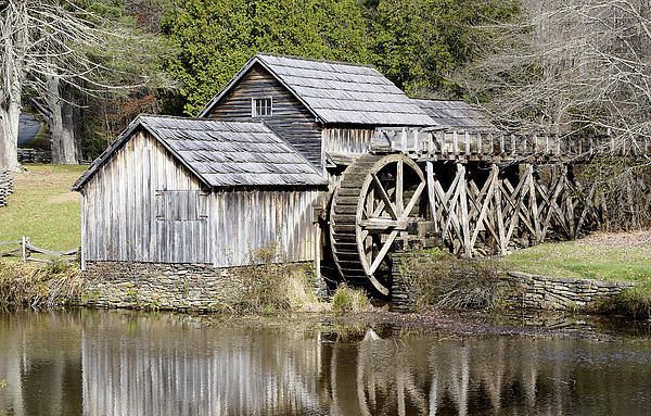 Mabry Mill Along The Blue Ridge Parkway Virginia By