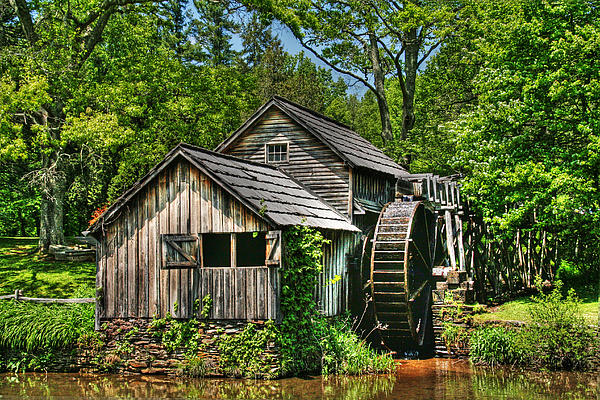 Mabry Mill Print by Heather Allen