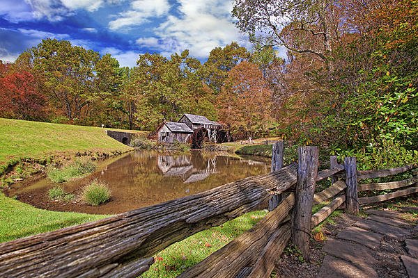 Mabry Mill Virginia Print by Marcia Colelli