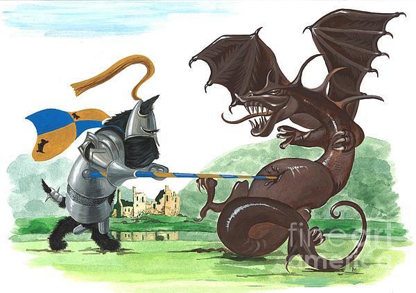 Macduff And The Dragon Print by Margaryta Yermolayeva