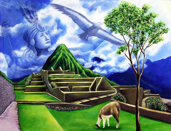 Machu Picchu Print by Marilen Morales