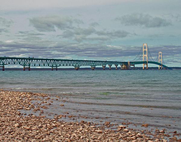 Mackinac Bridge Print by Brady D Hebert