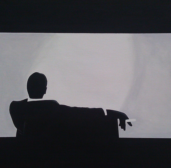 Mad Men In Silhouette Print by John Lyes