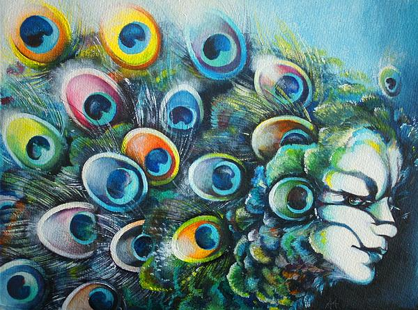 Madam Peacock Print by Alessandra Andrisani