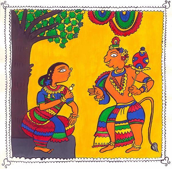 Madhubani Painting Print by Shruti Bhagwat