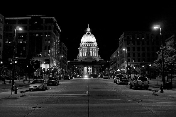 Madison WI Capitol Dome Photograph