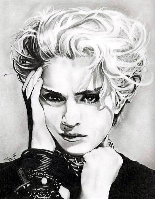Madonna Print by Fred Larucci