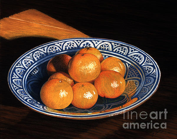 Maggie's Oranges Print by Norm Holmberg