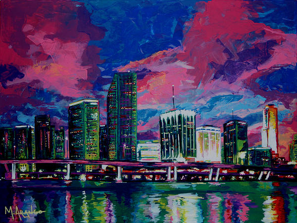 Magic City Print by Maria Arango