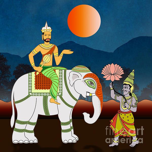 Maharajah's Journey Print by Bedros Awak