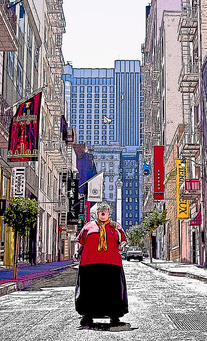 Maiden Lane Diva Print by Michael Fahey