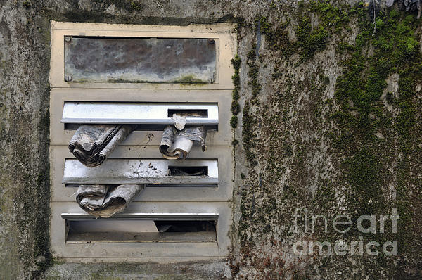 Mailbox With Old Newspapers Print by Matthias Hauser