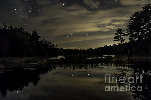 Patrick Fennell - Maine Beaver Pond At Night