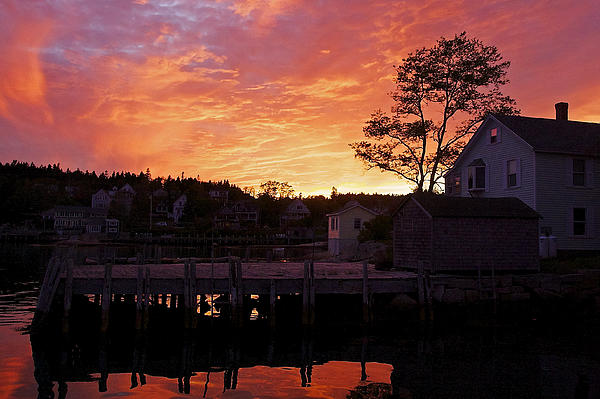 Stuart Litoff - Maine Harbor Sunset