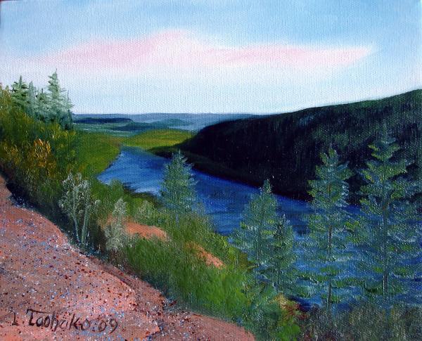 Maine Jordon Pond Print by Laura Tasheiko