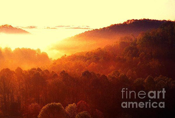 Majestic Mountain Sunrise Print by Thomas R Fletcher