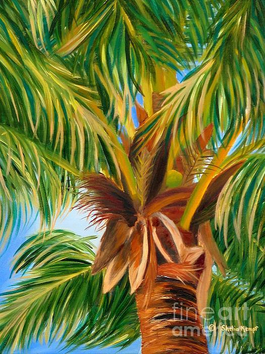 Majestic Palm Print by Shelia Kempf