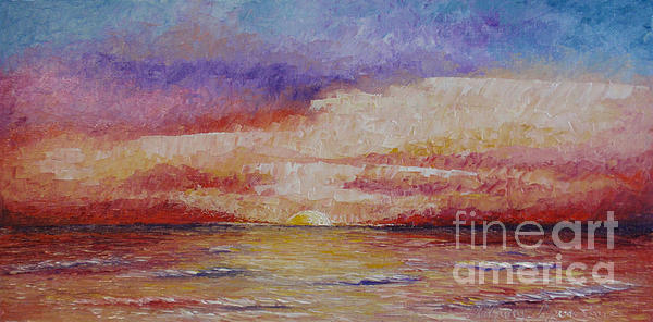 Majestic Sunset  Print by Tatjana Popovska