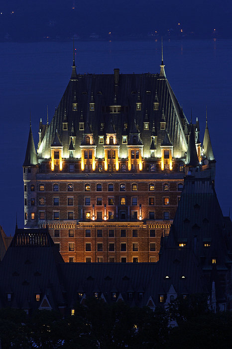 Majesty Of Chateau Frontenac In Quebec City Print by Juergen Roth