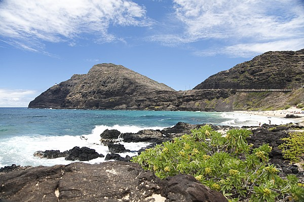 Makapuu Beach Print by Brandon Tabiolo