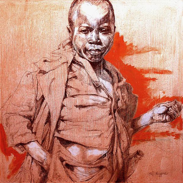 Malawi Child Sketch Print by Derrick Higgins