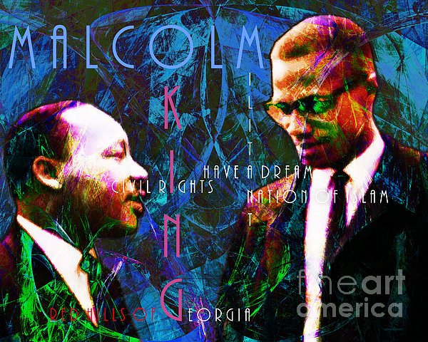 Malcolm And The King 20140205p180 With Text Print by Wingsdomain Art and Photography
