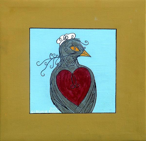 Mama Bird Print by Genevieve Esson
